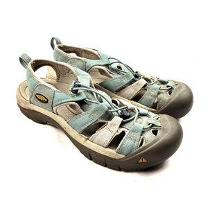 KEEN Newport H2 Sandals 7 Mineral Blue Vapor Shoes